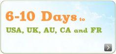 Fast shipping, 6 - 10 days, to USA, UK