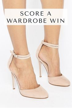 Cute shoes!!! Love the color!! ASOS PLAYDATE High Heels | ASOS | women's heels | nude heels | women's shoes | high heels | Ankle strap | closed toe heels | Affiliate