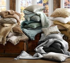 pottery barn pillow covers and throws rustic luxe