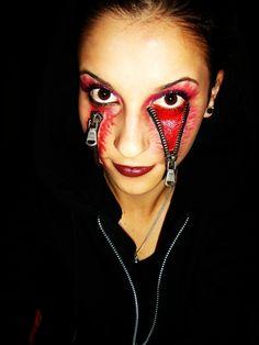 Halloween Makeup - Unzipped!