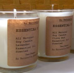 All Natural Essential Oil Scented Soy Candle     by aunaturelle, $6.00