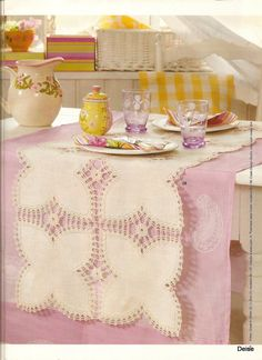"""Photo from album """"Anna Special - on Yandex. Crochet Quilt, Crochet Tablecloth, Crochet Motif, Crochet Designs, Crochet Doilies, Crochet Borders, Crochet Diagram, Doily Patterns, Crochet Patterns"""