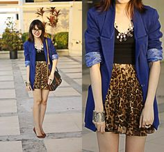 Marc By Marc Jacobs Eyeglasses, Forever 21 Blazer, Skirt, Posh Pocket Shoes Bendable Flats | Leopard Love (The A List) (by Anna Dominique Lumague) | LOOKBOOK.nu