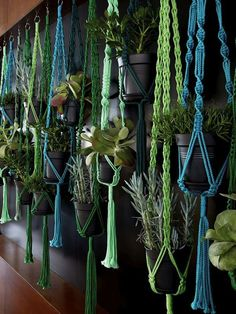 A macrame plant hanger is a great idea for any space. Throw it back to style with an adorable macrame plant hanger! Add more greenery and life to room! Macrame Plant Hanger Patterns, Free Macrame Patterns, Decoration Plante, Macrame Projects, Diy Macrame, Plant Holders, Hanging Planters, Woodland Nursery, House Plants