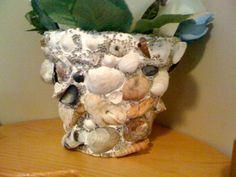 Sea shell flower pot