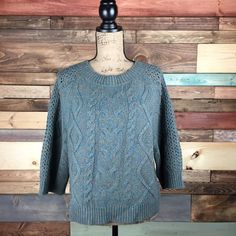 Far Away From Close Chunky Knit Sweater - Sm Far Away From Close Chunky Knit Sweater - Sm  Excellent condition, lovely color combination. Perfect for layering.  #anthropologie #sweaterweather #chunkyknit #anthrosweater #woodsnap Anthropologie Sweaters Crew & Scoop Necks
