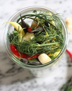 SandBar note: Use Asta's fresh dill.  serve as a tapas dish or next to sliders, or on a cured meat, canned fish & olives plate.   dilly beans | gardenista