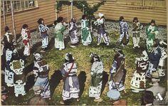 Ainu ceremony.  Hokkaido, Japan, about 2nd quarter 20th centry.