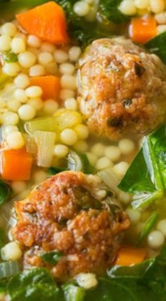 Italian Wedding Soup ~ This soup is amazing. It's packed with fresh flavors and the meatballs just make this soup sing Italian Wedding Soup ~ This soup is amazing. It's packed with fresh flavors and the meatballs just make this soup sing Slow Cooker Soup, Slow Cooker Recipes, Healthy Soup Recipes, Vegetarian Recipes, Easy Recipes, Healthy Food, Beef Soup Recipes, Vegan Vegetarian, Oven Recipes