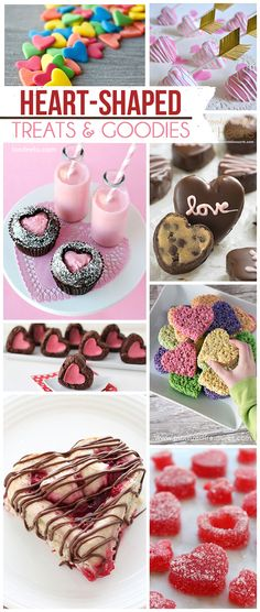 Heart-Shaped Cookies, Pies, Candy, Cinnamon Rolls, Donuts and more!!: