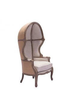 Ellis Occasional Chair - 98384Description :Fabrege' anyone? The Ellis chair captures the essence of a French classic with an updated twist. Waxed antique dark brown faux leather upholstrey covers the inside seat and back