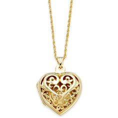Giani Bernini 24k Gold over Sterling Silver Necklace, Filigree Heart... ($30) ❤ liked on Polyvore featuring jewelry, necklaces, accessories, sterling silver heart necklace, gold heart necklace, gold locket, sterling silver necklace and sterling silver heart locket