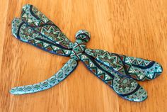 Polymer clay zentangle dragonfly