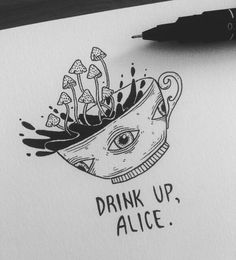 25 Trendy Trippy Art Drawing Sketches Illustrations Best Picture For art dessin lion For Your Taste Trippy Drawings, Psychedelic Drawings, Dark Art Drawings, Art Drawings Sketches, Cool Drawings, Tumblr Drawings Grunge, Creepy Sketches, Tumblr Art, Sketch Drawing