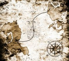 Old treasure map (The weathered look)