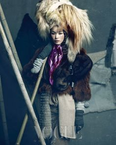 Vogue Korea - Queen of the Snow Editorial - Models Han Hye Jin, Song Kyung Ah, and Jang Yoon Ju styled by Jiah Yi.