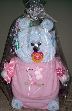 Small- Diaper Bears - Sweet Beginnings Diaper Cakes