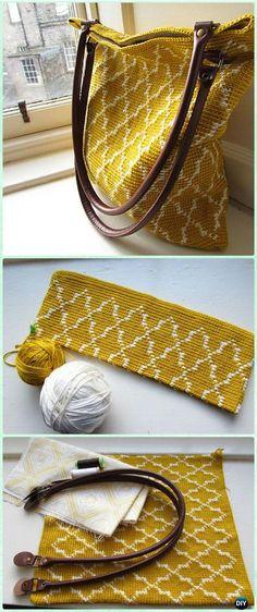 Crochet Moroccan Tote Free Pattern - Crochet Handbag Free Patterns Instructions