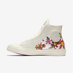 Online nike converse x patbo chuck taylor all star high top white All Star Shoes, Converse All Star, Galaxy Converse, Converse Style, Converse Shoes, Floral Converse, Cute Shoes, Me Too Shoes, Prom Shoes