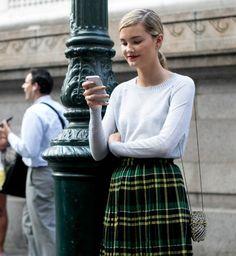 La jupe plisée, look de la Fashion Week printemps été 2014 de New York - Cosmopolitan.fr