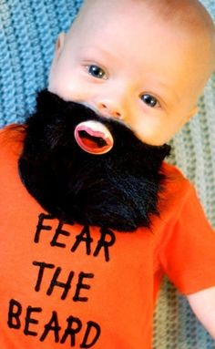 good Lord.This is so wrong, yet... so right <3   LIMITED EDITION Fear the Beard Hand Cut Custom by piquantdesigns, $17.50