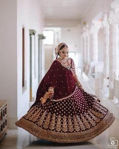 These Maroon Bridal Lehengas Are The New Bridal Color That You Must Consider. For more such bridal information, visit shaadiwish. Indian Bridal Outfits, Indian Bridal Fashion, Bridal Dresses, Latest Bridal Lehenga Designs, Wedding Lehenga Designs, Bridal Lehngas, Bridal Lehenga Collection, Indian Wedding Photography Poses, Bridal Dress Design