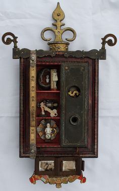 """""""The Truth is Rarely Pure"""": mixed media assemblage (20 X 12 X 5"""") by Steve Hosch. $350."""