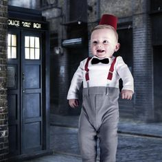 Baby Dr Who Halloween Costume @Bonnie Dammiller , all you were missing was the fez!