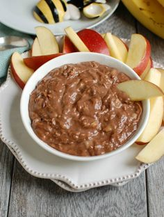 5 Ingredient Chocolate Banana Dip is simple to make and a snack or dessert that kids and adults will love. Serve with fresh fruit like apples, strawberries, bananas or even graham crackers. // A Cedar Spoon: Delicious Dinner Recipes, Yummy Appetizers, Yummy Snacks, Appetizer Recipes, Smart Snacks, Yummy Recipes, Fruit Recipes, Snack Recipes, Dessert Recipes