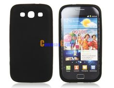 Silicone Protective Case for Samsung Galaxy S3 I9300 (Black)