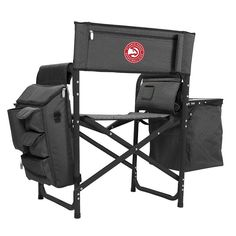 Outdoor Picnic Time Atlanta Hawks Fusion Chair, Black