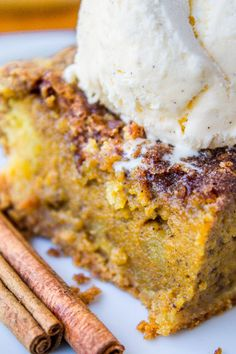 Easy Pumpkin Pie Cake from The Food Charlatan