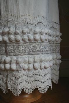 1820 white dress (detail)