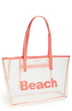 Lolo 'Amy - Beach' Mesh Tote available at Sandy Toes, Beach Accessories, Travel Set, Surfs Up, Beach Fun, Sun Hats, Spring Summer Fashion, Gym Bag, Coral