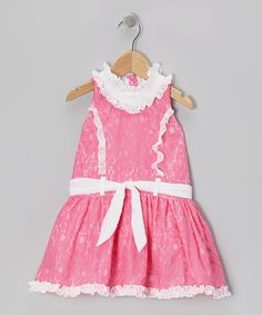 Take a look at this Pink Lace Princess Dress - Toddler & Girls by Trish Scully Child on #zulily today!