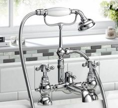 Albany Traditional Bath Shower Mixer with shower Handset [PT-TB2035] - £95.69 : Platinum Taps & Bathrooms