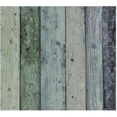 Nonwoven Wallpaper Scrap wood Green/Blue at Wallpaperwebstore Green Barn, Sea Colour, Antique Tea Cups, Wood Wallpaper, Blue Beach, Wallpaper Online, High Quality Wallpapers, Wood Background, Weathered Wood