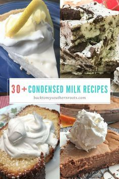 Sweetened condensed milk is a popular ingredient in desserts. In this post youll find cakes pies fudge frosting and so much more in these homemade desserts from around the web. Youll also learn how to make caramel right in the can. Kinds Of Desserts, Indian Desserts, No Cook Desserts, Homemade Desserts, Homemade Pies, Condensed Milk Desserts, Sweet Condensed Milk, Recipes Using Condensed Milk, Top Dessert Recipe