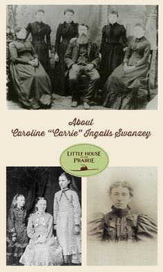 """Carrie Ingalls, born Caroline Celestia Ingalls on August 1870 to Charles (""""Pa"""") and Caroline (""""Ma"""") Ingalls, is best known as the younger sister of Laura Ingalls Wilder, author of the Little House on the Prairie books. Laura Ingalls Wilder, I Love Books, Good Books, Ingalls Family, Michael Landon, People Of Interest, Interesting History, Book Authors, Little Houses"""