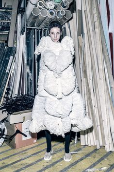 """andreasanterini: Julia Bergshoeff in """"Rei Kawakubo"""" / Photographed by Fabien Baron / Styled by Karl Templer, for Interview Magazine October 2015 Fabien Baron, Rei Kawakubo, Fashion Editor, Editorial Fashion, Editorial Photography, Fashion Photography, Templer, How To Make Clothes, Making Clothes"""