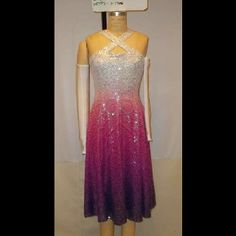 Color guard dress- Absolutely beautiful! Would be cold in November in Michigan, but so worth it.
