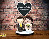 Personalised Custom Bride and Groom Wedding Cake Topper