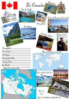 Canada, Japon et Espagne Medan, Formation Continue, Planets Wallpaper, Teaching French, I School, Canada Travel, Montessori, School Projects, Social Studies