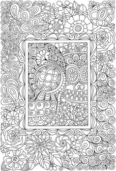 Creative Haven Eerie Entangled Art Coloring Book @ Dover Publications Dover Coloring Pages, Blank Coloring Pages, Skull Coloring Pages, Pattern Coloring Pages, Adult Coloring Book Pages, Printable Adult Coloring Pages, Doodle Coloring, Animal Coloring Pages, Coloring Apps