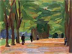Avenue of Trees by the Rhine, Speyer (study) Hans Purrmann - 1904