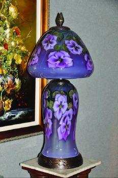 Artist: Daniel Lotton, Title: Neodymium & Lavender Cynthia Lamp - click for larger image