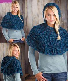 Ravelry: Cowl in the Wool Capelet pattern by Annette Stewart (free crochet pattern) Crochet Capelet Pattern, Crochet Shawl, Crochet Yarn, Free Crochet, Crochet Patterns, Crochet Scarves, Crochet Clothes, Crochet Winter, Crochet Gifts