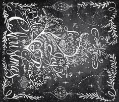 Christmas Tree in Chalk fabric by cynthiafrenette on Spoonflower - custom fabric