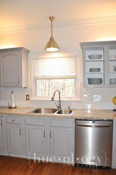 painted kitchen cabinets using paris grey chalk paint by annie sloan
