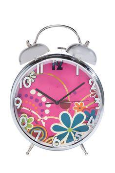 KARE Design Ein fröhlicher Wecker, der am frühen Morgen gleich für gute Laune sorgt. Herrliches Flower Power Muster im Stil der Sixties. Ein stylischer Hingucker mit Funktion. #KARE #KAREDesign